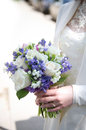 Bouquet of flowers bride with a Stock Images