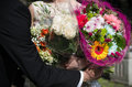 Bouquet of flowers couple with a Royalty Free Stock Photography