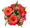 Bouquet of flowers with gerberas Royalty Free Stock Image