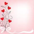 Bouquet of flowers shaped heart Royalty Free Stock Photos