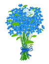 Bouquet of forget-me-not Stock Photos