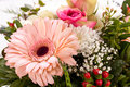 Bouquet of fresh pink and white flowers Royalty Free Stock Photo