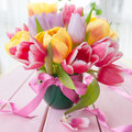 Bouquet of fresh tulips Royalty Free Stock Photo