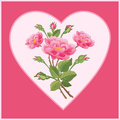 Bouquet in heart hello misters thanks for viewing Royalty Free Stock Images