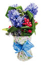 Bouquet from hyacinth Stock Photo
