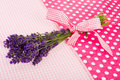 Bouquet Lavender On Dotted Bac...