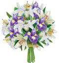 Bouquet Of Lilies And Irises