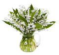 Bouquet of lilies of the valley isolated on white background Royalty Free Stock Photo