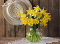 Bouquet of narcissuses still life with a Stock Photos