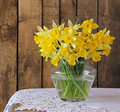 Bouquet of narcissuses still life with a Royalty Free Stock Image