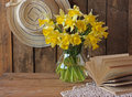 Bouquet of narcissuses still life with a Royalty Free Stock Photography