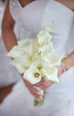 Bouquet nuptiale des callas Photos stock