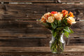 Bouquet of orange roses Royalty Free Stock Photo