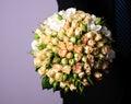 Bouquet peach-coloured Wedding Photographie stock libre de droits