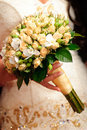 Bouquet peach-coloured Wedding Image stock