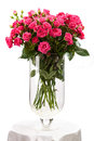Bouquet of pink roses over white Royalty Free Stock Image