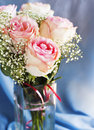 Bouquet of pink roses shallow depth field Royalty Free Stock Photos