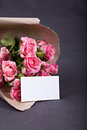 Bouquet of pink small roses Stock Photography