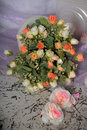 Bouquet of pink and white roses Royalty Free Stock Photo