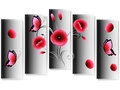 Bouquet of poppies, modern design. Royalty Free Stock Photo
