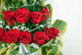 Bouquet of red rose flowers Royalty Free Stock Photos