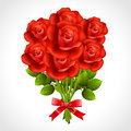 Bouquet of red rose vector illustration this is file eps format Royalty Free Stock Photography