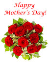 Bouquet of red roses isolated on white background flower arrangement happy mother s day card concept Stock Photography