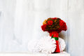 Bouquet retso photo red and green flower Stock Photography