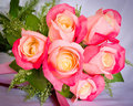 Bouquet of rose flowers beautiful pink Stock Photo