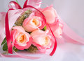Bouquet of rose flowers beautiful pink Stock Photos