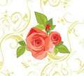 Bouquet of roses on the decorative background Royalty Free Stock Image