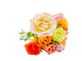 Bouquet of roses isolated on white background Stock Image