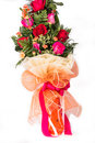 Bouquet of roses isolated on white background on studio Royalty Free Stock Image