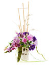 Bouquet of roses, lilies and orchids Royalty Free Stock Image