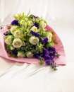 Bouquet in silk cloth background Royalty Free Stock Image