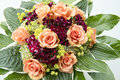 Bouquet with summer flowers Royalty Free Stock Photo