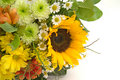 Bouquet with sunflower Stock Image