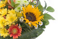 Bouquet with sunflower Stock Photos