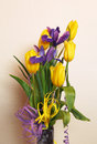 Bouquet of tulips and irises Royalty Free Stock Photo