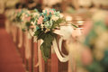 Bouquet wedding decorate for ceremony Royalty Free Stock Image