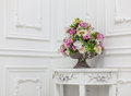 Bouquet of in white interior horizontal photo Stock Photos