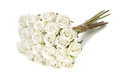 Bouquet of white roses isolate on background Royalty Free Stock Images
