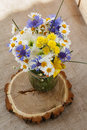 Bouquet of wildflowers in a vase Royalty Free Stock Photo