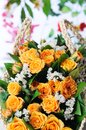 Bouquet of yellow roses. Royalty Free Stock Photos