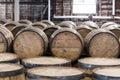 Bourbon Barrel Storage Room Royalty Free Stock Photo