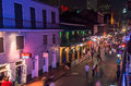 Bourbon Street at dusk Stock Image