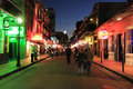 Bourbon Street at Night Stock Image