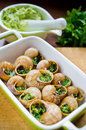 Bourgogne snails with garlic butter Royalty Free Stock Image