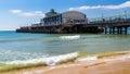 Bournemouth beach dorset and pier england uk europe Stock Image