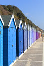 Bournemouth beach huts dorset is a large coastal resort town on the south coast of england Stock Image